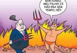 RÔMULO GOUVEIA NO INFERNO: Secretário do PT publica charge ofensiva a deputado morto e perde o cargo em prefeitura – entenda o caso