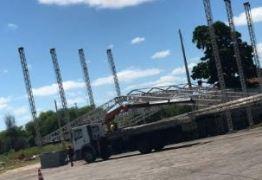 Estruturas para o São João de Patos já estão sendo montadas no Terreiro do Forró