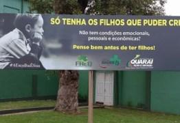 'Só tenha os filhos que puder criar': campanha de prefeitura causa repercussão na internet