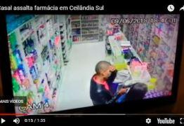 Comerciante mata mulher após ter farmácia assaltada por ela e comparsa -VEJA VÍDEO