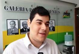 'USO INDEVIDO DO PARTIDO': MDB 'desliga' Dihêgo Amaranto após cargo na Prefeitura de João Pessoa; LEIA NOTA