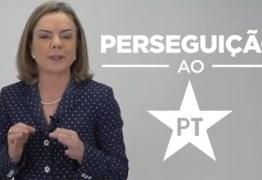 Em vídeo, Gleisi afirma que denúncia no STF é perseguição contra PT e candidatura de Lula