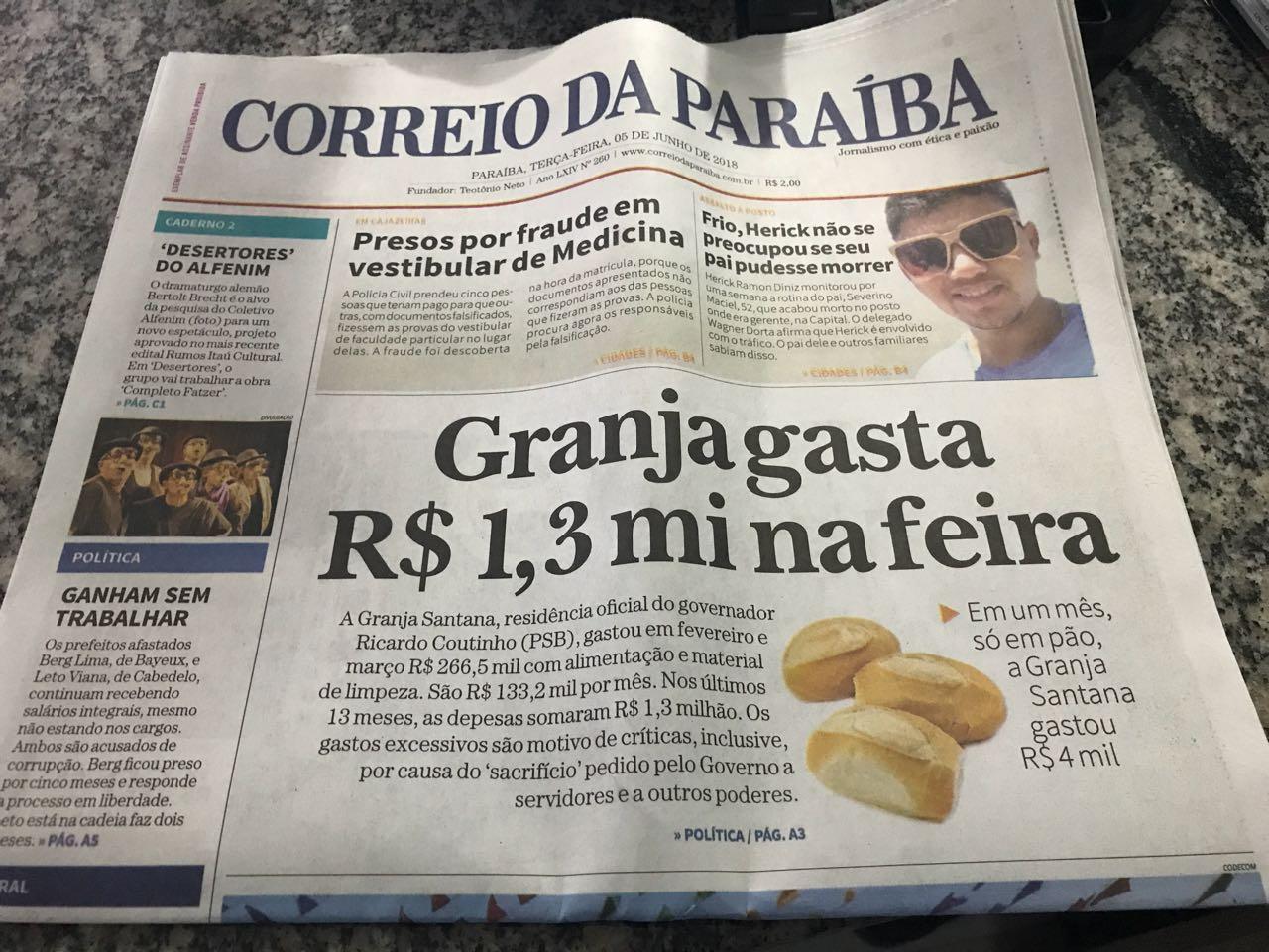 WhatsApp Image 2018 06 06 at 14.53.45 2 - ROBERTO JÁ ESCOLHEU UM LADO: Sistema Correio abre as 'baterias' contra o Governo Ricardo Coutinho