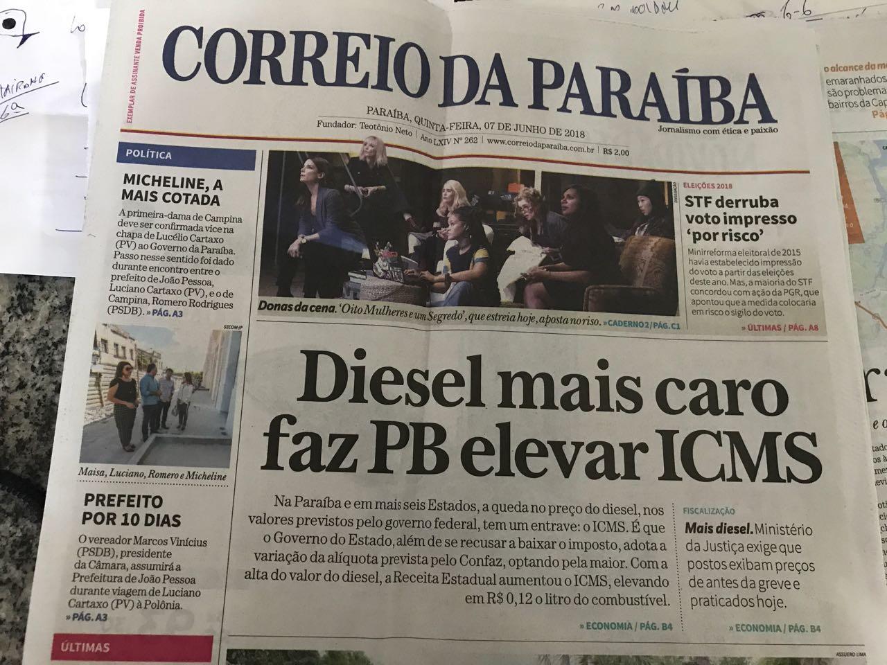 WhatsApp Image 2018 06 07 at 07.37.49 - ROBERTO JÁ ESCOLHEU UM LADO: Sistema Correio abre as 'baterias' contra o Governo Ricardo Coutinho