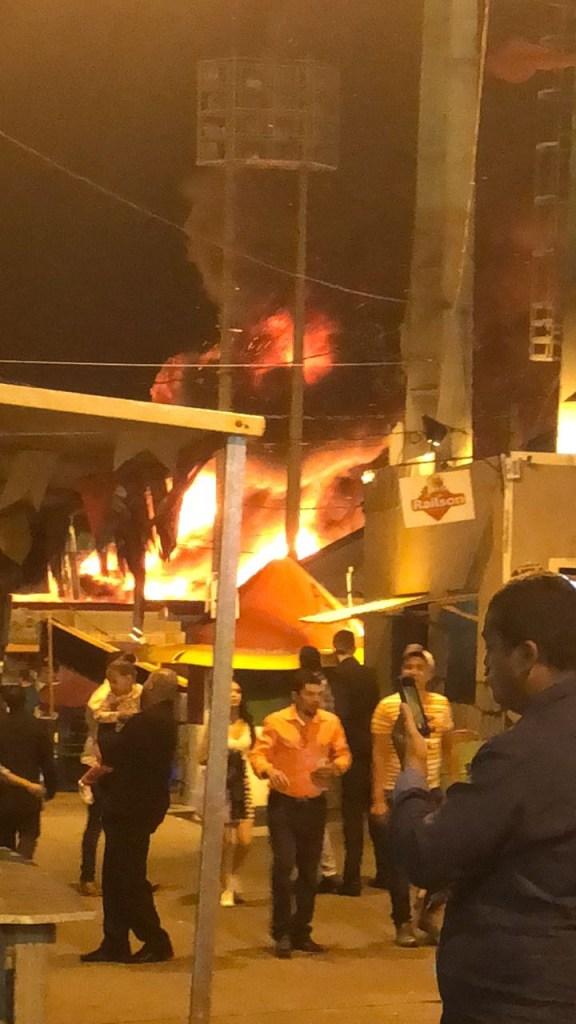 WhatsApp Image 2018 06 30 at 20.08.38 576x1024 - URGENTE: Botijão de gás explode e incêndio atinge barracas no Parque do Povo; shows estão cancelados - VEJA VÍDEOS!