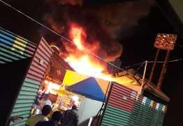 URGENTE: Botijão de gás explode e incêndio atinge barracas no Parque do Povo; shows estão cancelados – VEJA VÍDEOS!