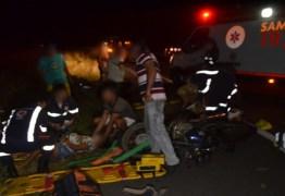 Um morre e dois ficam gravemente feridos em acidente entre as cidades de Aparecida e Sousa