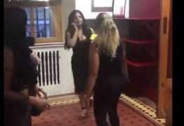 VEJA VÍDEO: Day McCarthy, socialite que ofendeu famosos, leva tapa e é expulsa de show de Anitta