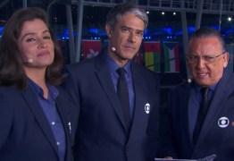VEJA VÍDEO: Bonner faz Renata Vasconcellos passar vergonha ao expor bastidor da Copa
