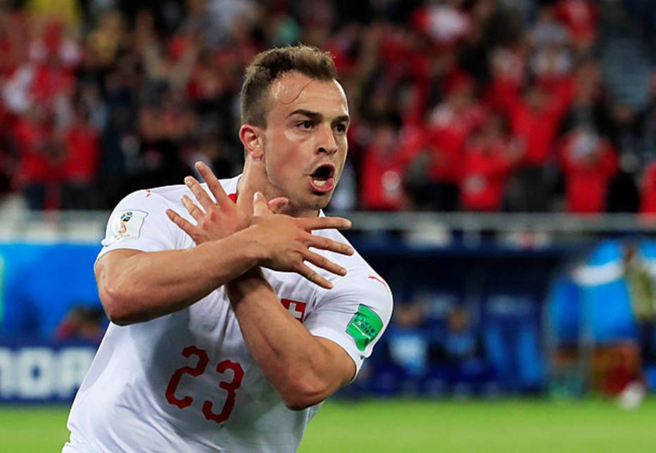 Resultado de imagem para Suíça: comemoração polêmica de Xhaka e Shaqiri na Copa pode ser punida pela Fifa