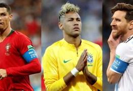 Neymar, Messi e Cristiano Ronaldo: só um deles pode chegar à final, quem será ?