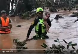 VEJA VÍDEO: Bebê sobrevive quatro dias sem comer em cima de árvore após rompimento de represa