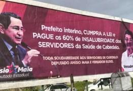 Anísio Maia denuncia prefeito Vitor Hugo de Cabedelo de não pagar insalubridade dos servidores:  CUMPRA A LEI e PAGUE