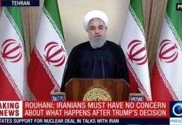 'Nunca mais ameace os EUA', diz Donald Trump ao presidente do Irã