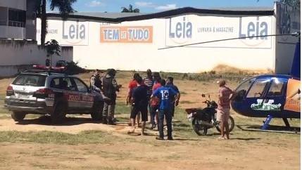 incendiário cajazeiras helicóptero geraldo sorveteria - VEJA VÍDEO: Revoltado com poluição comerciante paraibano tenta atear fogo em helicóptero