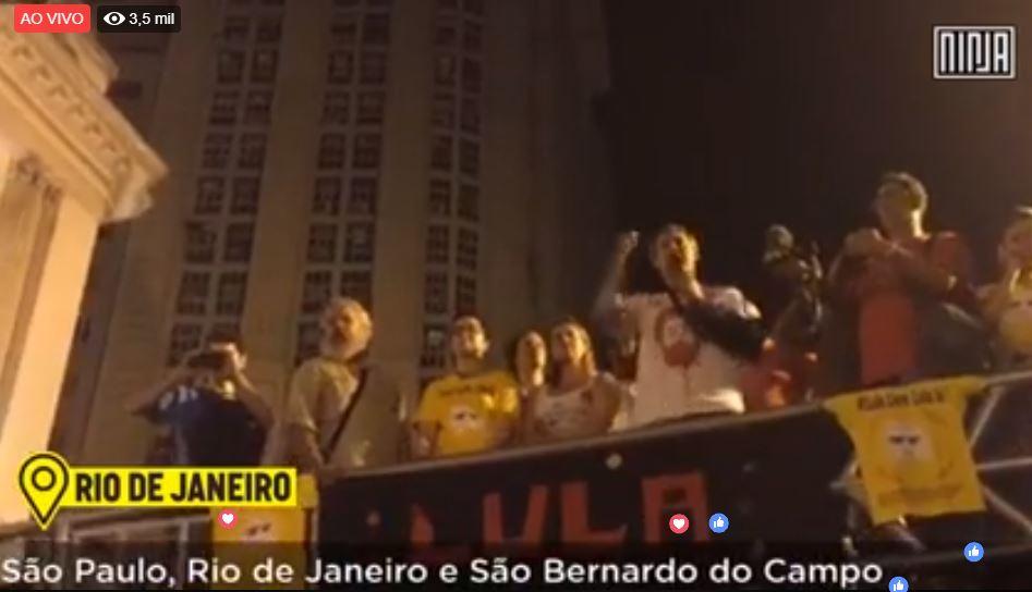 AO VIVO: Acompanhe as mobilização em prol de Lula Livre no Rio e em Curitiba – ASSISTA