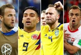 Suécia x Suíça e Colômbia x Inglaterra definem último confronto das quartas de final