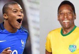 Pelé parabeniza Mbappé por igualar feito: 'é ótimo ter a sua companhia'