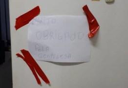 Ladrões 'agradecem' após roubar cofres: 'obrigado pela gentileza'