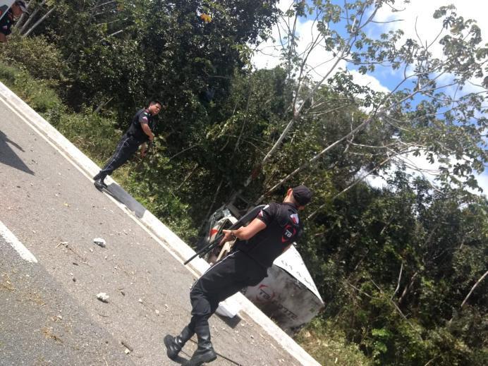 1533567590393 carro forte - Polícia Militar prende suspeitos de assaltar e explodir carro-forte na BR-230