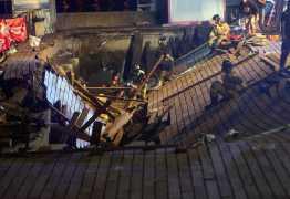 Plataforma cai durante festival e deixa 300 feridos – VEJA VÍDEO