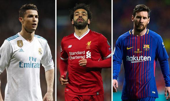 Mohamed Salah Cristiano Ronaldo Lionel Messi 951363 - Salah, Cristiano Ronaldo e Messi são indicados a prêmio da Liga dos Campeões