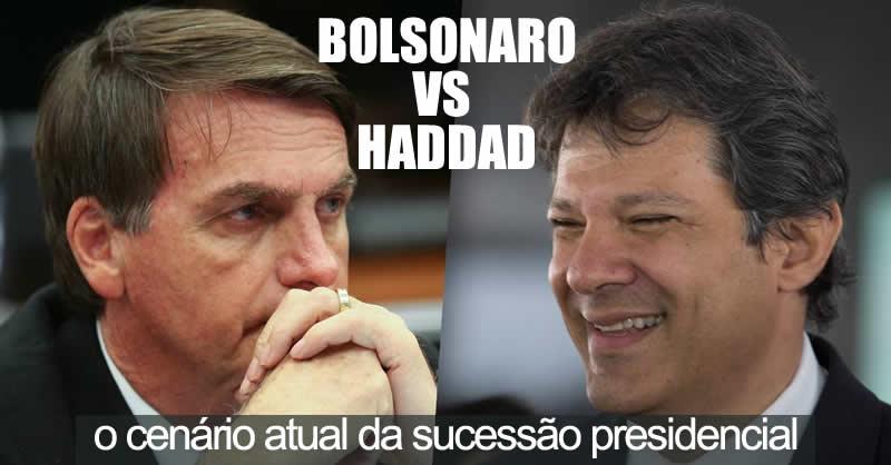 Resultado de imagem para BOLSONARO E HADDAD