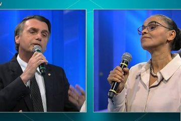 VEJA O VÍDEO: Marina deixa Bolsonaro constrangido durante debate, diz cientista político