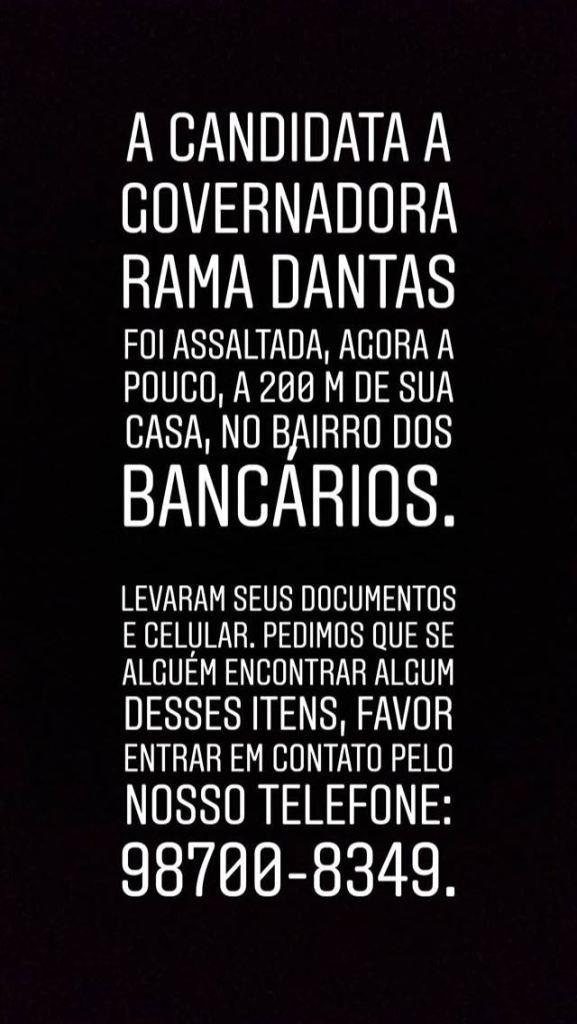 WhatsApp Image 2018 08 30 at 22.38.35 577x1024 - VIOLÊNCIA GRATUITA: Candidata ao Governo da PB, Rama Dantas é assaltada em João Pessoa