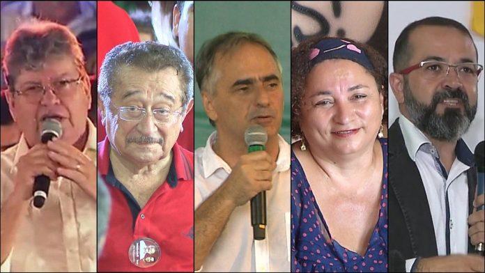 candidatos a governo da pb 696x392 - Data do primeiro debate entre os candidatos ao Governo do Estado é divulgada