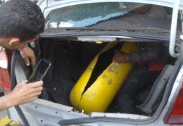 VEJA VÍDEO: Cilindro de gás explode em carro durante abastecimento em posto em Bayeux