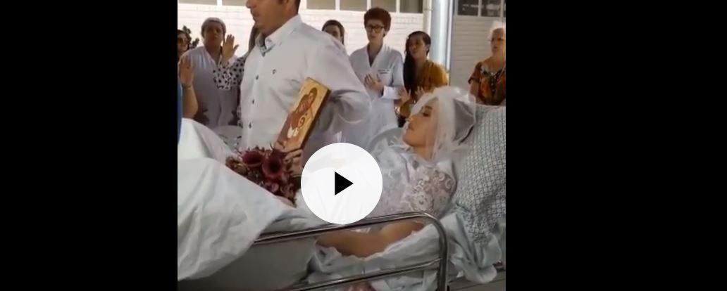 casamento - VEJA VÍDEO: Jovem sousense internada com câncer se casa em hospital de João Pessoa