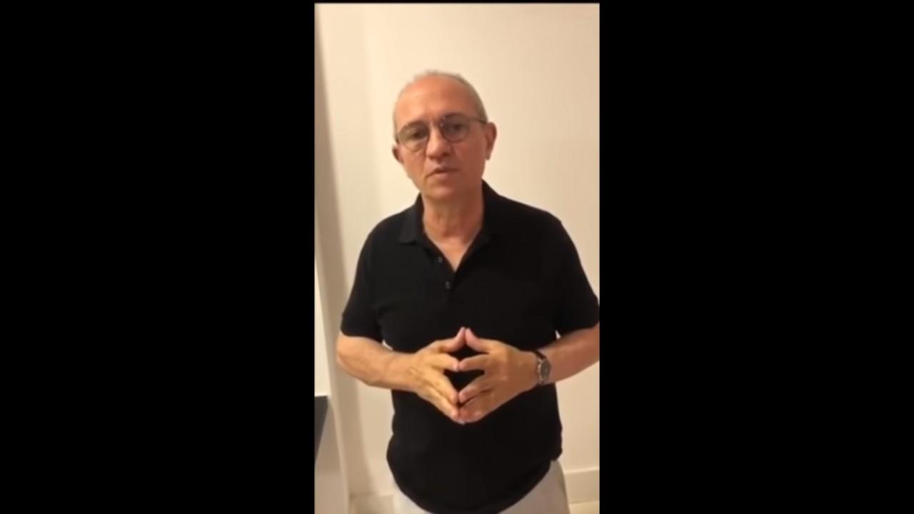 Aliviado, governador do ES grava vídeo após acidente com helicóptero