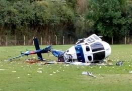 Helicóptero com governador do Espírito Santo cai durante o pouso