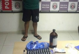 Suspeito de tráfico de drogas é preso com mais de 100 frascos de loló, em João Pessoa