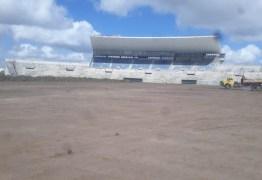 Obras são iniciadas no Amigão: gramado já foi completamente removido