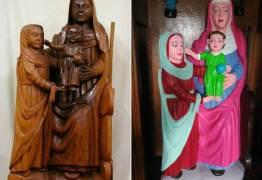 Moradora de povoado restaura esculturas centenárias com cores berrantes