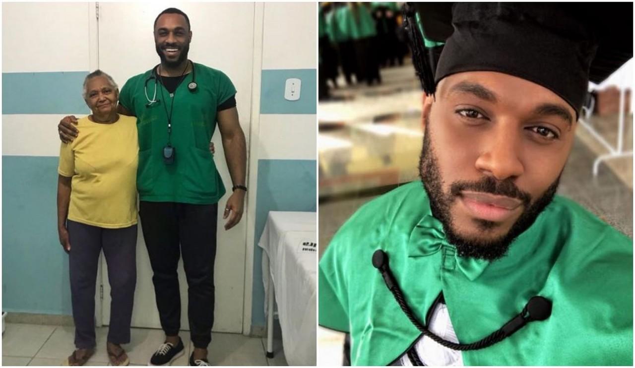 Médico posta reação de idosa ao ser consultada pela primeira vez por um negro e foto viraliza, veja