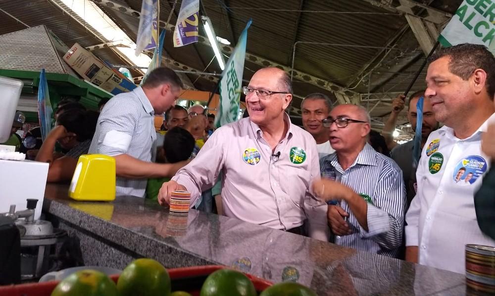Alckimin - Alckmin critica no Acre 'populismo de esquerda do PT' e 'populismo de direita de Bolsonaro'