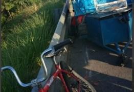 Ciclista fica ferido após acidente envolvendo veículo na BR-230
