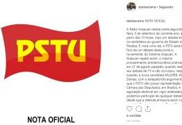 PSTU lança nota de repúdio pela exclusão de Rama Dantas no debate na Arapuan