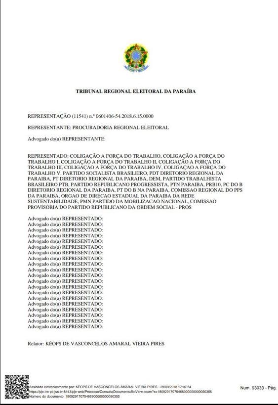 Screenshot 20180929 190139 e1538259513886 - MULTAS DE ATÉ R$ 65 MIL: TRE proíbe candidatos e partidos de utilizarem material de campanha com Lula como candidato a presidente