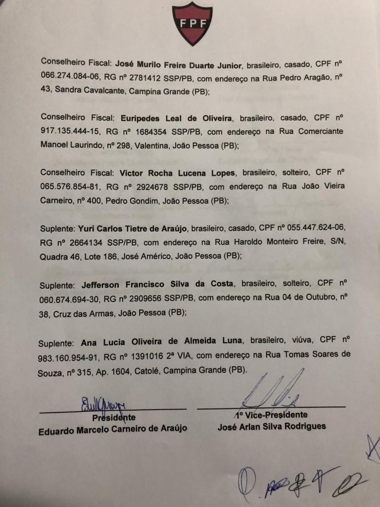 WhatsApp Image 2018 09 12 at 4.45.15 PM 1 1 - ELEIÇÃO NA FPF: Registro de chapa de Eduardo Araújo confirma tese de chapa única