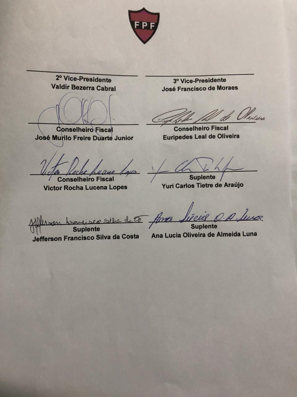 WhatsApp Image 2018 09 12 at 4.45.16 PM - ELEIÇÃO NA FPF: Registro de chapa de Eduardo Araújo confirma tese de chapa única