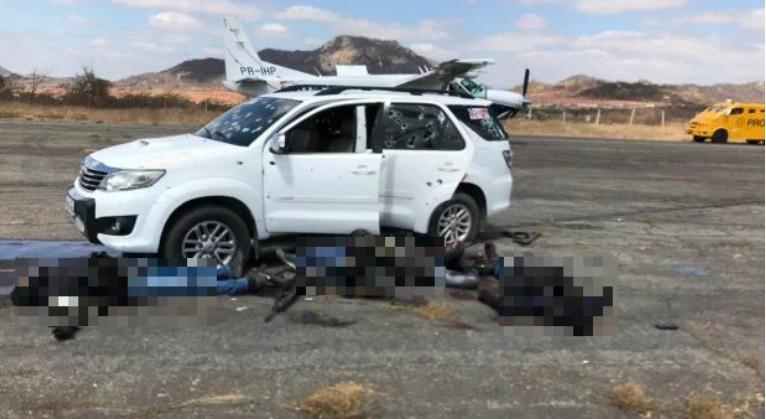 assalto avião transporte valores salgueiro - VEJA VÍDEO: Assalto a avião de transporte de valores termina com cinco mortos