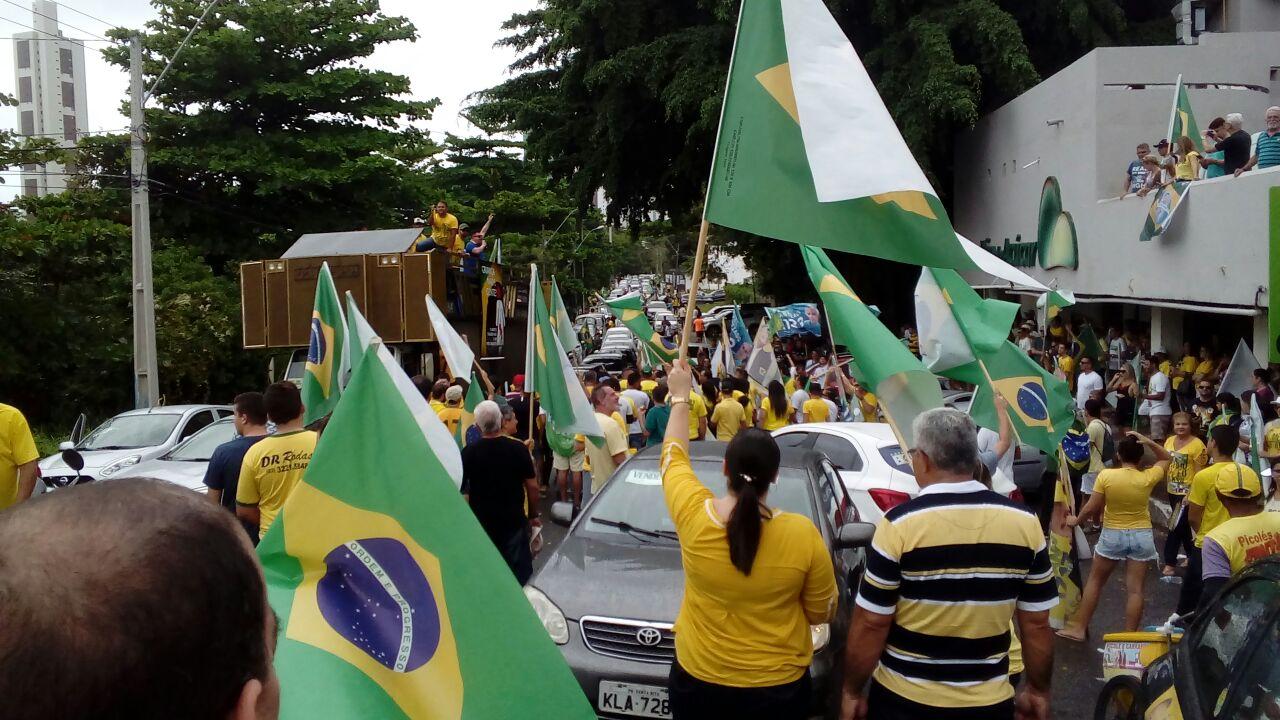 f424be01 da0b 4711 aa28 535936a8a5ca - VEJA VÍDEOS: pessoenses realizam carreata com oração e buzinaço em apoio ao candidato Jair Bolsonaro