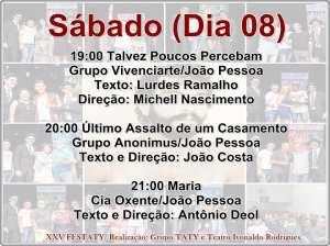 festaty3 300x224 - XXV FESTATY: Festival de teatro em Santa Rita reune 30 espetáculos e premia melhores destaques