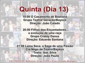 festaty8 300x224 - XXV FESTATY: Festival de teatro em Santa Rita reune 30 espetáculos e premia melhores destaques