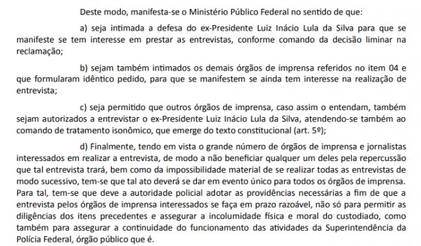 lual2 603x353 - Procuradores da Lava Jato pedem que Lula conceda entrevista coletiva
