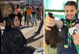 Menina faz campanha para confeccionar perucas para mulheres com câncer